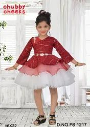 Sparkle Kids Fancy Party Wear Frock, Size: 16-22