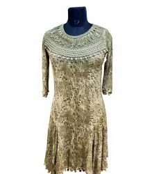 Rayon Embroidered Ladies Fancy Dress