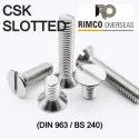 Countersunk Raised Head Slotted Screw
