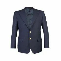 Polyester Blue Formal Blazer