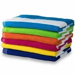 Samarth Textiles Cotton Cabana Stripe Bath Towels, For Home, Size: 36 X 72 Inch