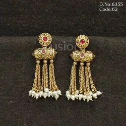 Traditional Chain Tassel Earrings