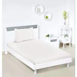 Satin Plain Single Bed Sheet