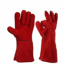 Leather Hand Gloves Perfect Red