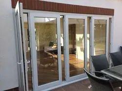 Toughened Glass L Handle UPVC Exterior Doors, 19 Mm