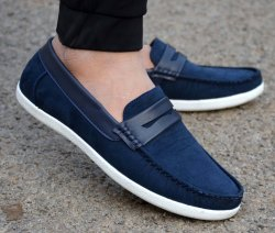 Loafer Shoe Casual Mens Suede Loafers Shoes, Size: 10