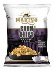 Corn Cream Onion Chips, Packaging Size: 60 Gms