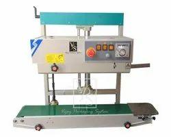 Vertical Continuous Band Sealer-5kg Model No.- VPS-CS-650-MS-VT-WB