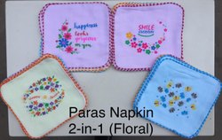 Paras Ladies Printed Napkins -- 2-In1