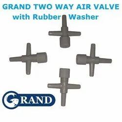 Grand Air Controller Valve 2 Way Oxygen Pump To Air Stone Tube Control Air