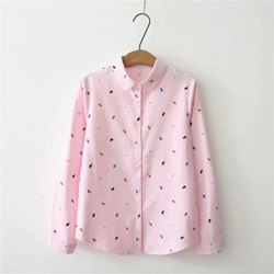Printed Cotton Ladies Formal Shirt