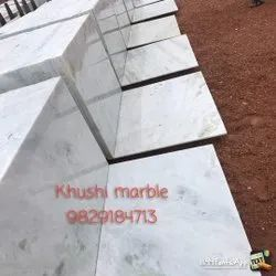 Polished Finish White Agaria Marble Slab, Thickness: 15 mm