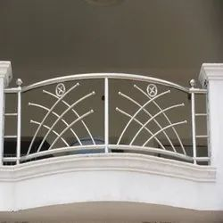 Silver Stainless Steel Balcony Grills