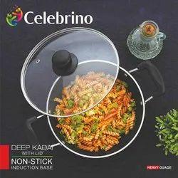 Celebrino Deep Kadhai with Glass Lid 26cm