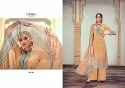 Cotton Semi-Stitched Salwar Suit
