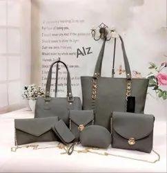 Ladies Grey Handbag Set