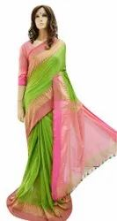 Pure Cotton Casual Wear Ethnic Bhumri Saree, With Blouse, 6 m