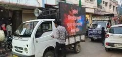 Advertising LED Screen Mobile Van, For Outdoor, Hydraulic