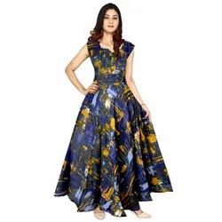 Printed Multicolor Stylish Ladies Gown