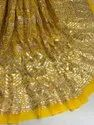 Long Width Viscose Georgette Embroidered Fabric