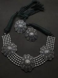 Flower Designer Antique Necklace Set