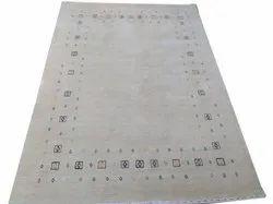 White Handloom Carpet, Size: 5 X 8 Feet