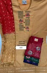 Wedding Wear Embroidery Chanderi Suit With Buti Dupatta