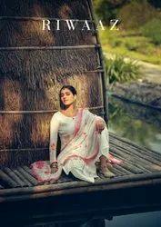 Karma Trendz Riwaaz Palazzo Style Muslin Fabric Salwar Suits Catalog