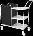 Soiled Linen Trolley Ms With Shelves - 50-6000 Gs