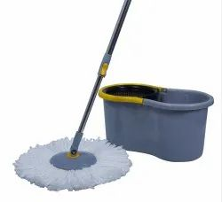 Esquire Elegant Grey 360 Degree Spin Mop Set With Easy Wheels And An Additional Refill