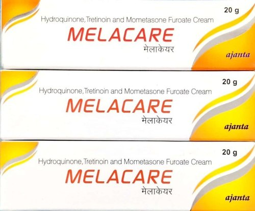 MELACARE Cream Hydroquinone (2% w/w) + Mometasone (0.1% w/w) + Tretinoin (0.025% w/w)