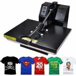 Heat Press T-Shirt Printing Machine, Automation Grade: Automatic