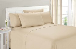 Cream Satin Bed Sheet