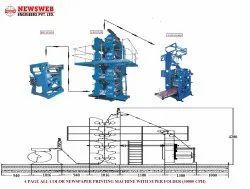 4 Hi Tower Web Offset Book Printing Machine