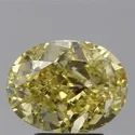 Oval Brilliant 3ct Fancy Intense Yellow VS2 GIA Certified Natural Diamond
