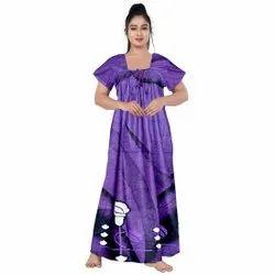 Half Sleeve Cotton Ladies Fashion Nighty