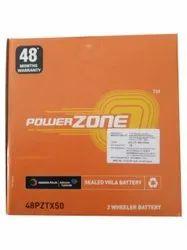 48PZTX50 Power Zone Two Wheeler Battery