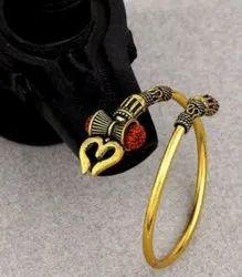 Rudraks Gold Men Bracelet