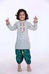 Kid1 Festive Wear Pancham Lace Detail Kurta With Dhoti (0 Months To 6 Years)