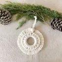Fancy Macrame Christmas Ornament