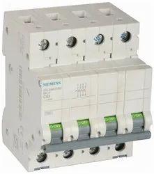 Siemens Plastic 63A 4 Pole MCB
