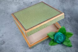 Velpack绿色优质木制甜赠品盒,尺寸:8.75