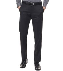 Flat Regular Fit Mens Black Formal Cotton Pant, Machine And Hand Wash
