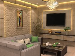 Wooden Designer TV Wall Unit, For Home