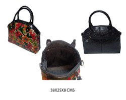 Black Leather Designer Shoulder Bag