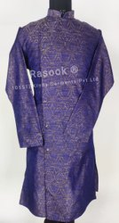 Designer Brocade Sidecut Kurta Pajama
