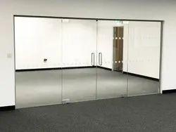 Hinged Plain Frameless Glass Door, For Office, Thickness: 10 Mm