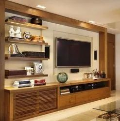 Brown Wooden TV Cabinet, For Residential