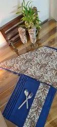 Cotton Hand Block Printed Kitchen Table Mat And Napkin Wholesaler Wholesaler  Set Wholesaler