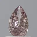 Pear 0.53ct Fancy Pinkish Brown SI1 GIA Certified Natural Diamond